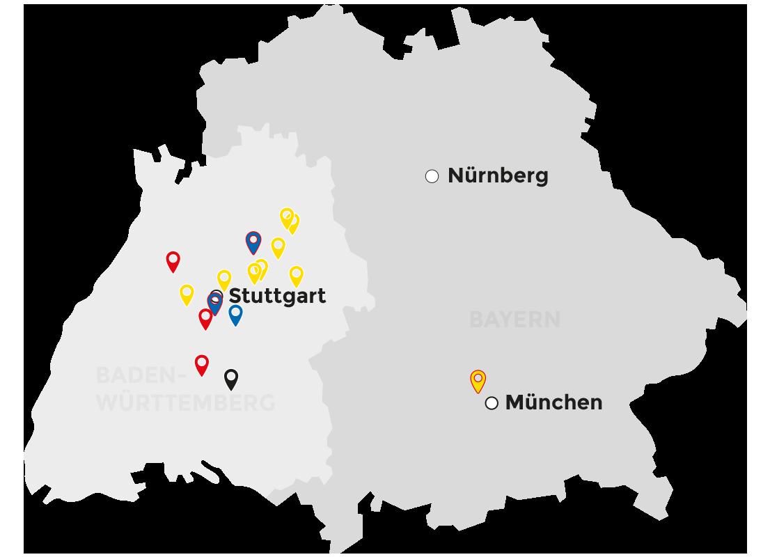 Sueddeutschland_Karte_Schaal